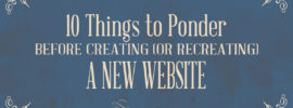 10 Things to Ponder Before Creating a New Website