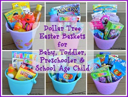 dollar tree easter basket for baby, toddler, preschooler, school age child