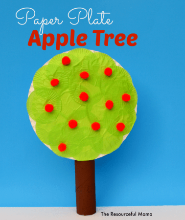 Apple tree kid craft