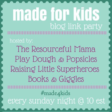 Made for Kids Link Party every Sunday night at 10pm EST