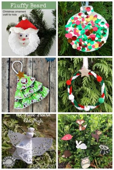 homemade kid ornaments for Christmas