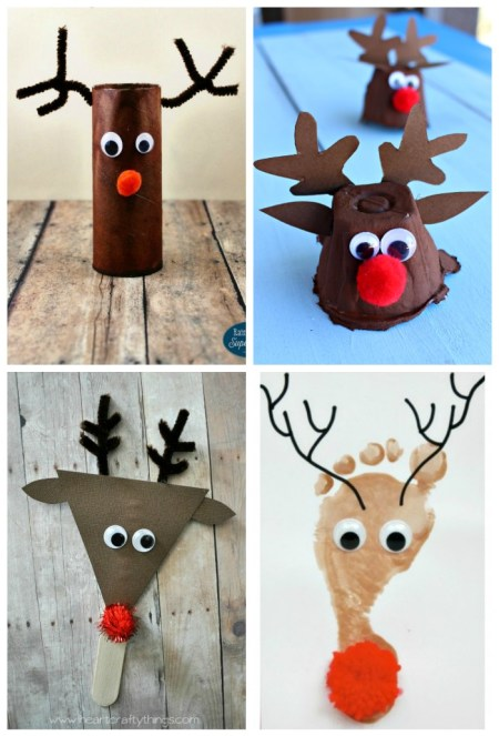 Rudolph the Red Nosed Reindeer Christmas Crafts for Kids