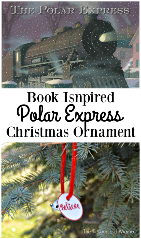 Polar Express book inspired Christmas ornament-free printable believe tag