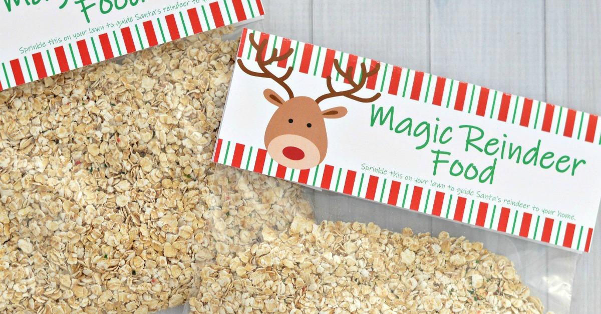 Magic Reindeer Food {Printable Bag Topper} - The Resourceful Mama
