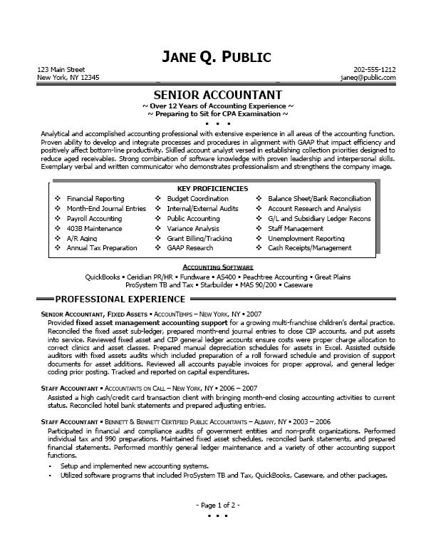 accountant resume objective examples shopgrat senior resume senior it manager resume sample sample resumes top accountant
