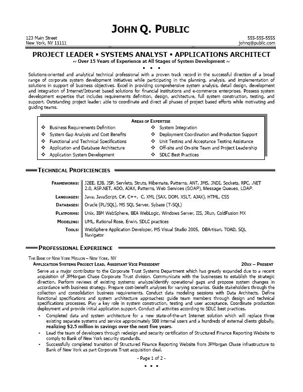 system analyst resume example - Onwebioinnovate - Business Analyst Resumes Examples