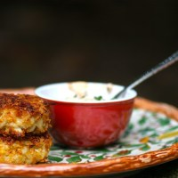 Oven Baked Crab Cakes with Two Dipping Sauces