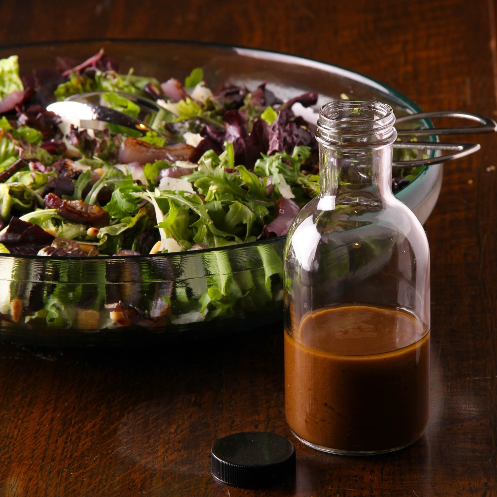 Roasted Red Onion Salad with Dijon Balsamic Dressing