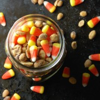 candy corn and peanuts.