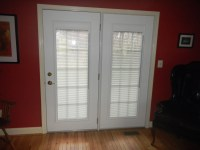 Steel Entry Doors with Blinds Between The Glass Panes