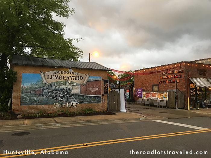 Entertainment venue A.M. Booth's Lumberyard in Huntsville, Alabama