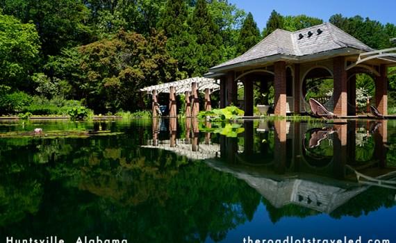 Aquatic Garden in Huntsville Botanical Garden in Huntsville, Alabama