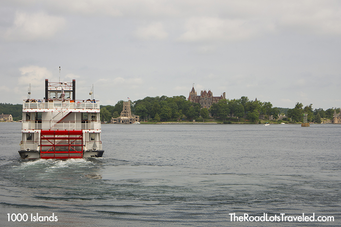 Uncle Sam Boat Tours heads to Boldt Castle on Heart Island in 1000 Islands