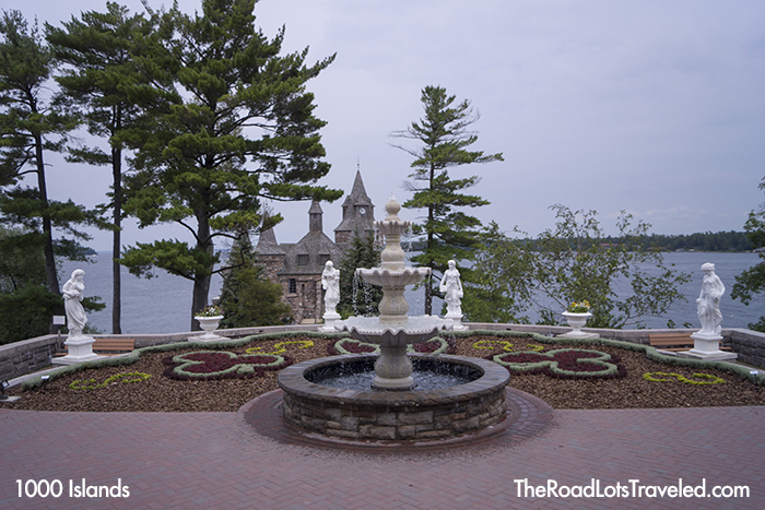 Italian Gardens at Boldt Castle on Heart Island in 1000 Islands