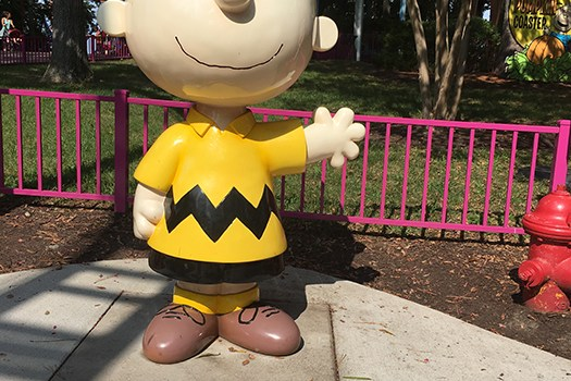 Charlie Brown Statue at Kings Dominion