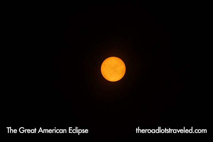 Full Sun before the Great American Eclipse began