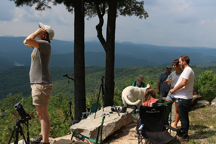 Watching the Great American Eclipse from Jocassee Gorges, South Carolina