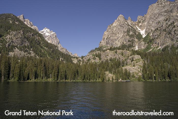 Jenny Lake as seen from boat towards Cascade Canyon, Grand Teton National Park