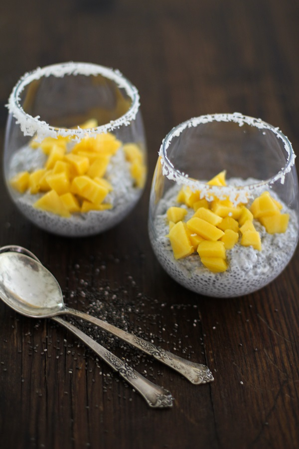 Paleo Chia Coconut Pudding with Coconut Milk