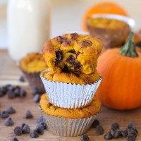 Grain-Free Chocolate Chip Pumpkin Muffins