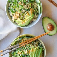 Wasabi Vegetable Bowls