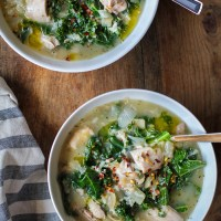 Crock Pot Chicken, Artichoke, and Kale Soup