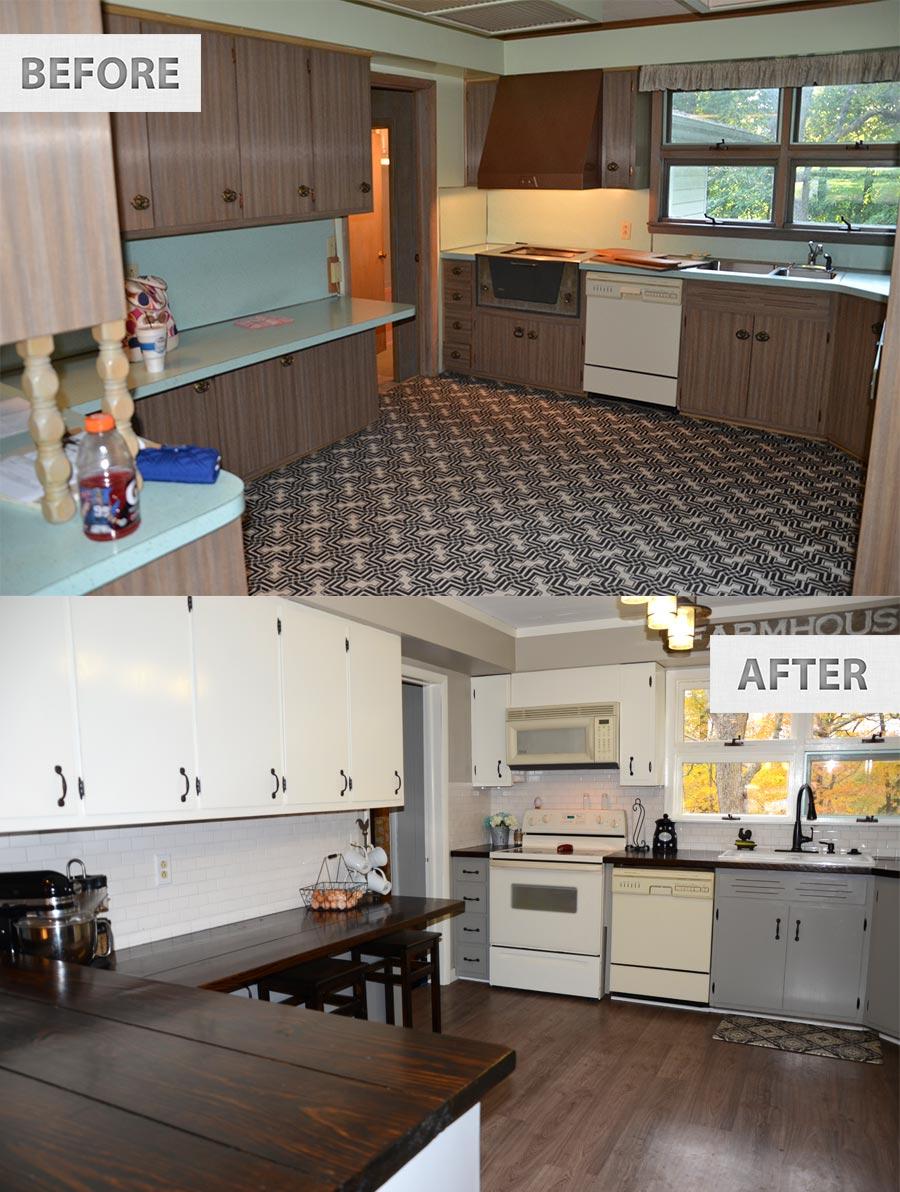 farmhouse renovation kitchen cheap kitchen flooring diy farmhouse cheap kitchen remodel 3