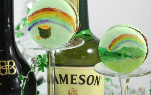 Irish Coffee Macarons and rainbows