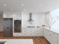 Arctic White Shaker - Ready To Assemble Kitchen Cabinets ...