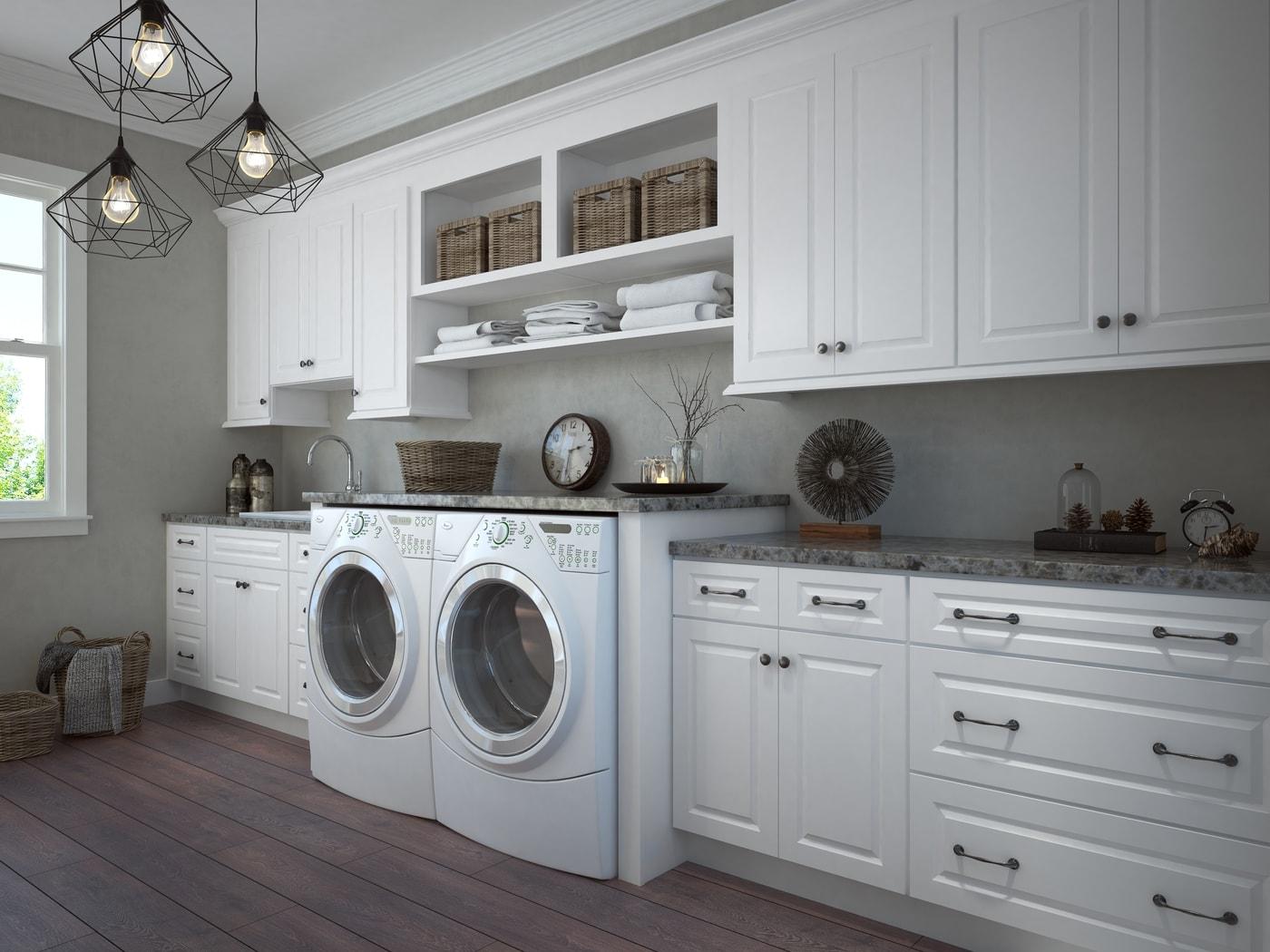 Amazing Dakota White Ready To Assemble Kitchen Cabinets Kitchen ...