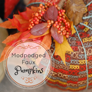 ModPodged Faux Pumpkins: Autumn Around the South Blog Hop