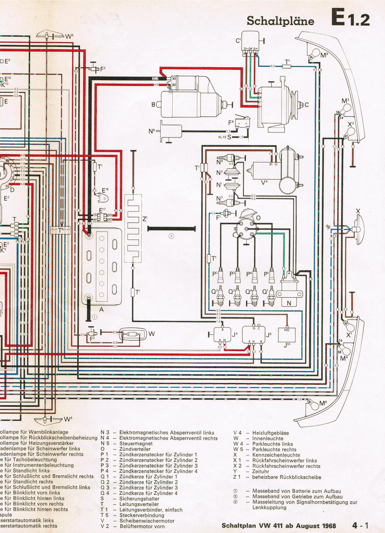 air cooled vw engine exploded diagram