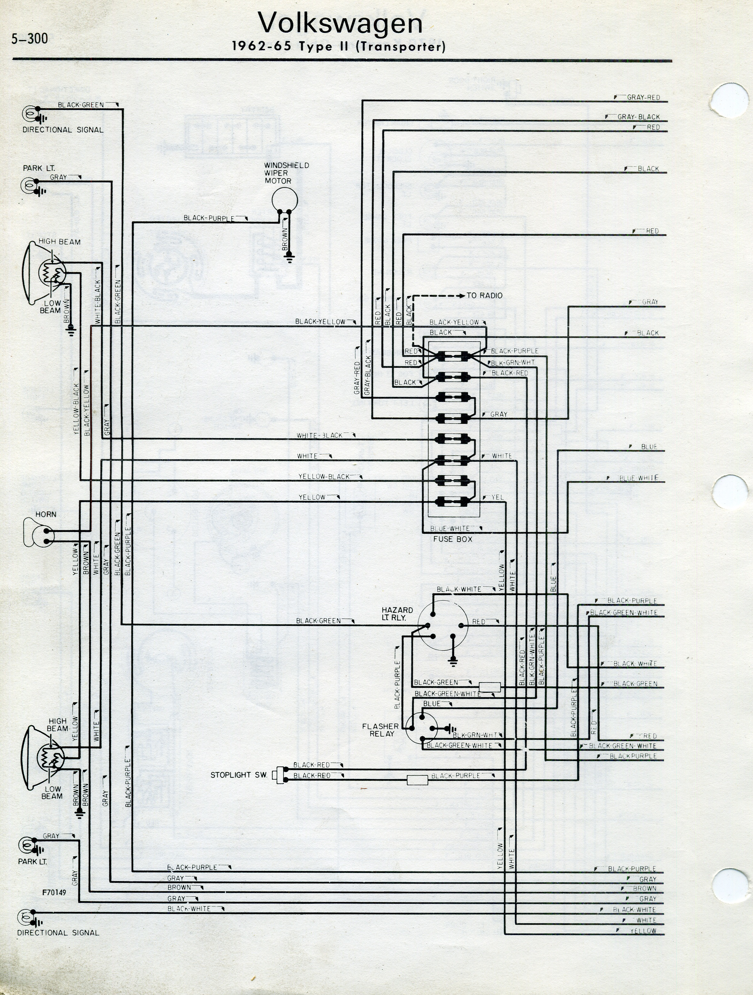 wiring diagram for 1968 vw transporter