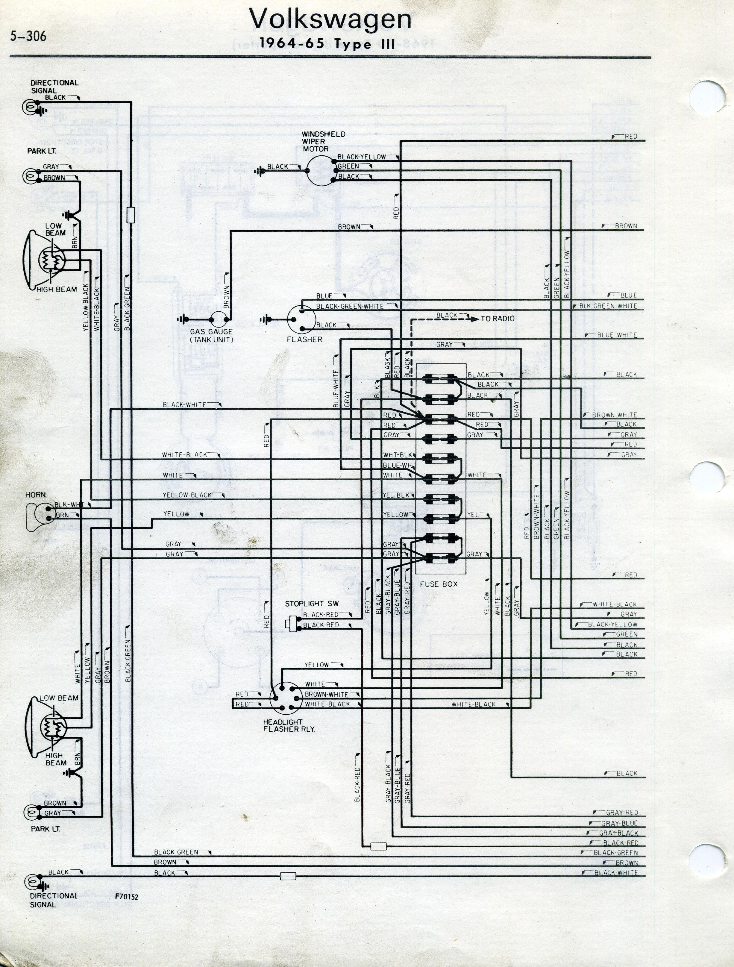 1973 vw type 3 wiring diagram