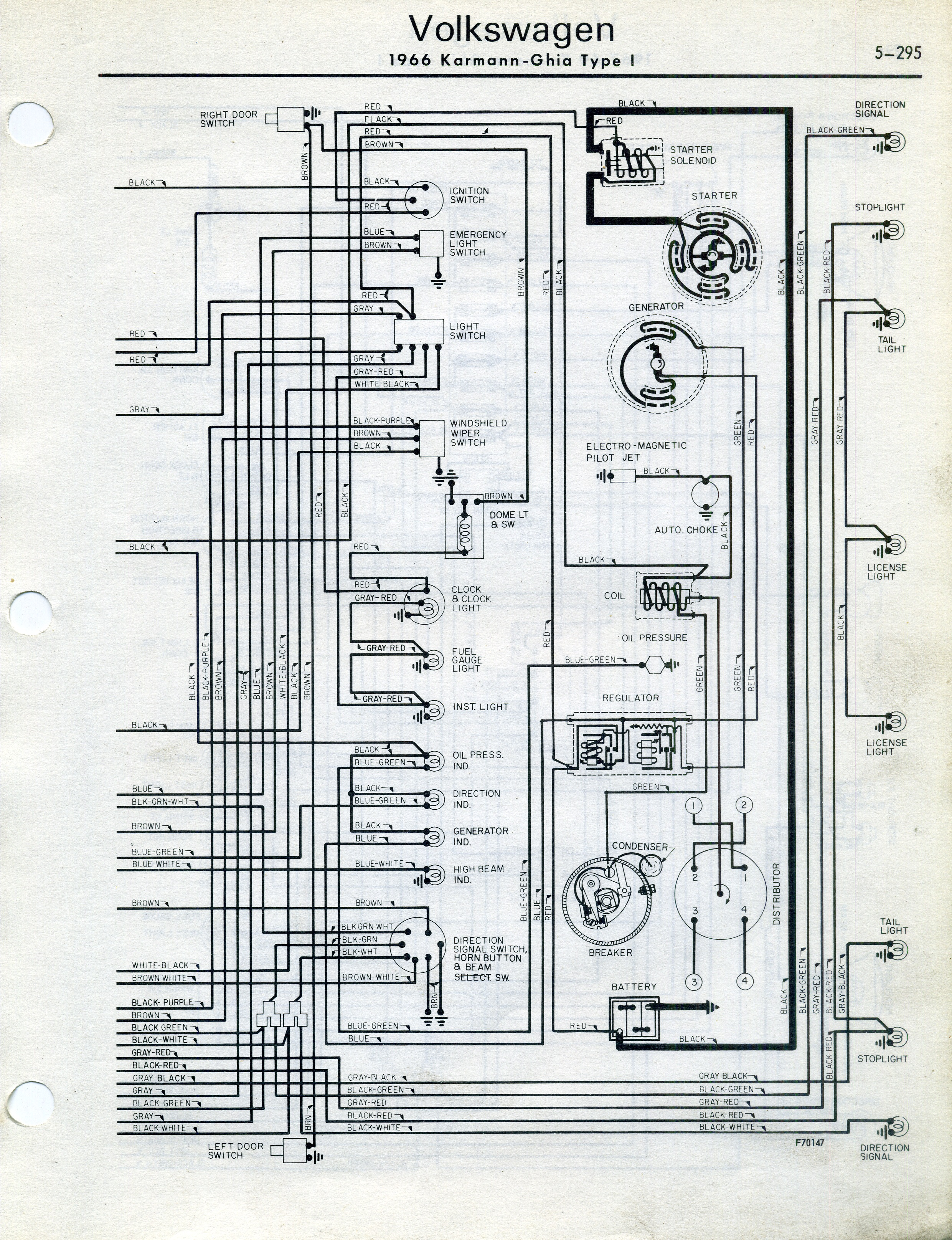 72 karmann ghia wiring diagram picture
