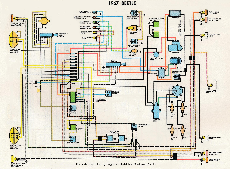 vw wiring diagrams 1963