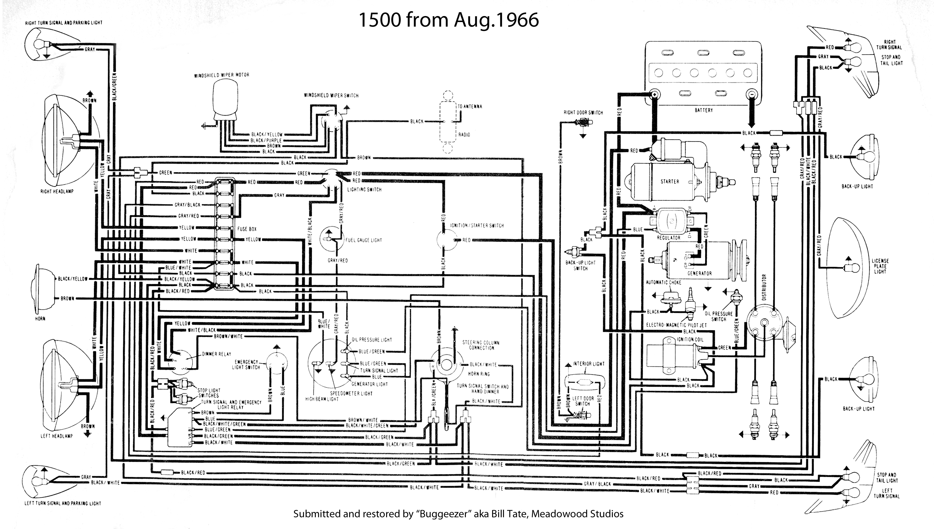 1965 1966 vw beetle 1300 fuse box diagram