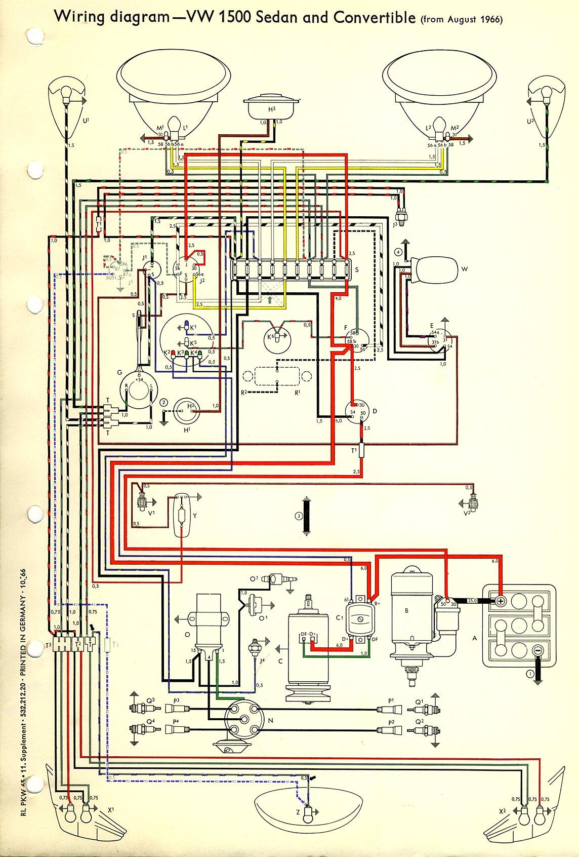 68 Vw Wiring Diagram Schematics Voltage Regulator Auto Electrical