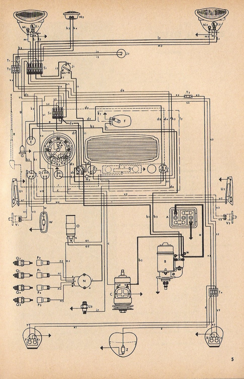 1970 vw beetle electrical wiring diagram