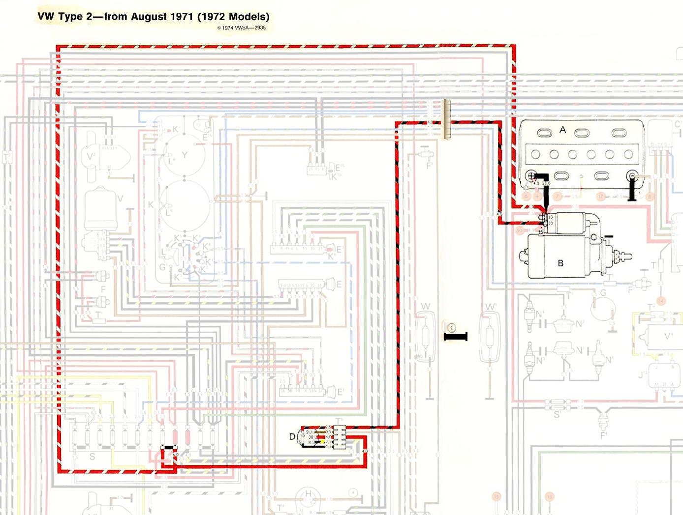 1972 vw bus wiring diagram