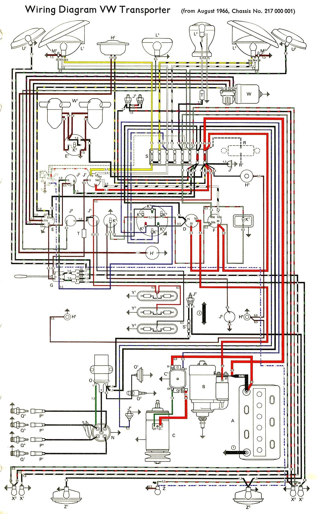 1966 vw bus wiring diagram
