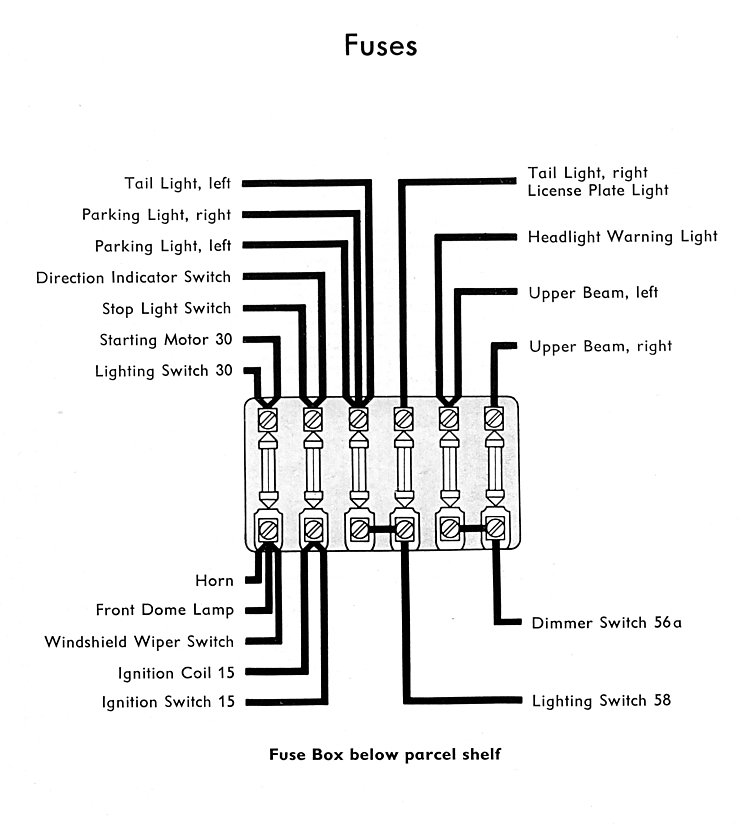 vw wiring diagram for 1961