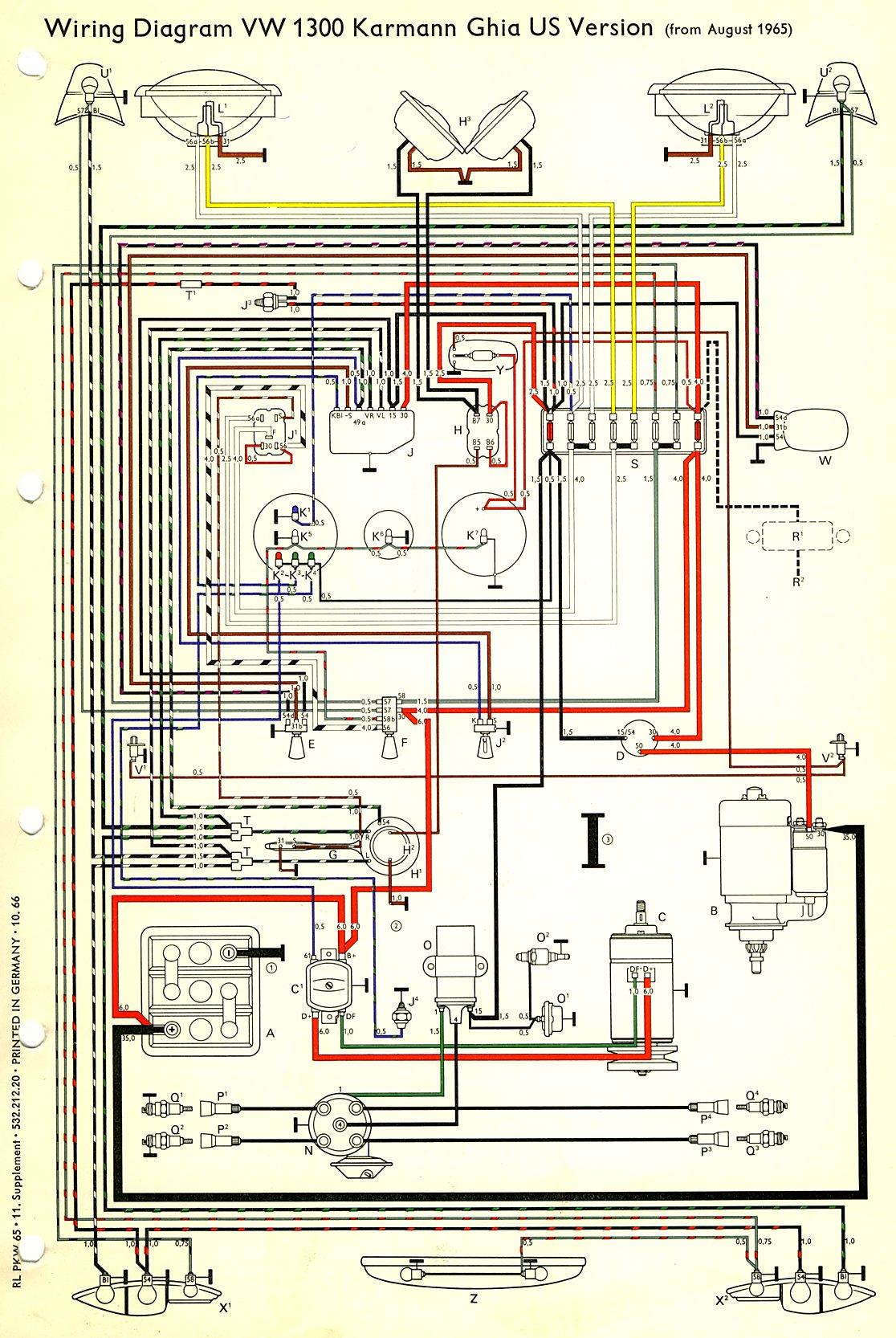 1964 Chevy Starter Wiring Diagram Thesamba Com Karmann Ghia Wiring Diagrams