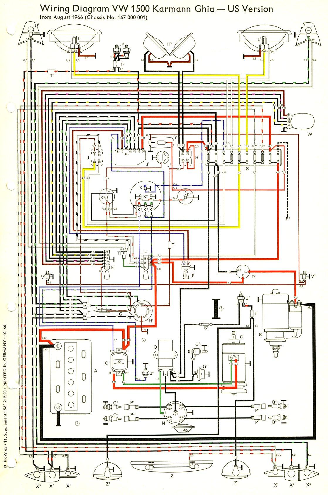 1967 vw karmann ghia wiring diagram