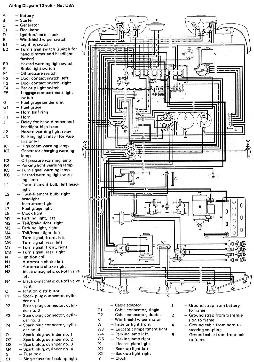 1967 vw wiring diagrams
