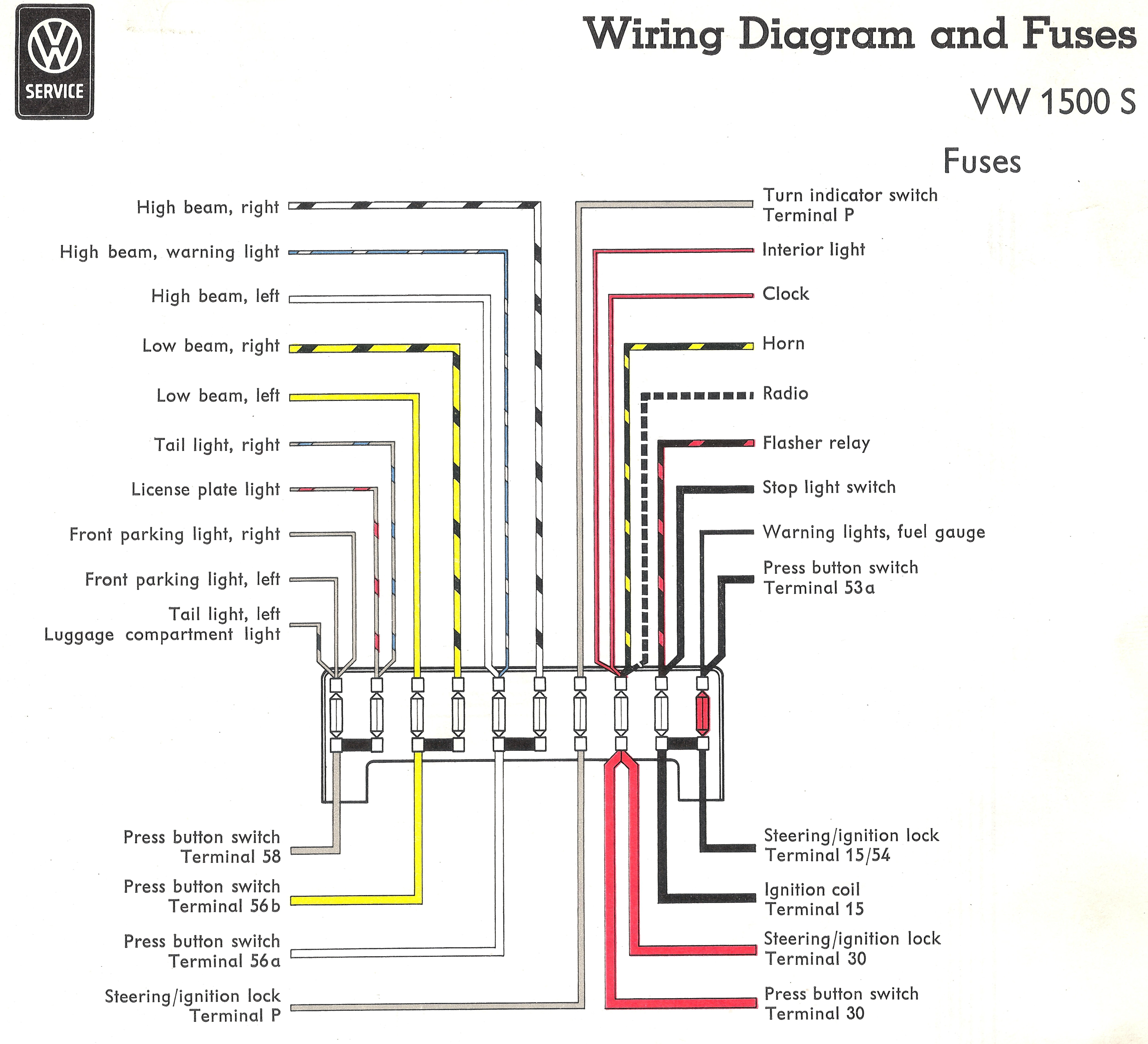 1967 vw fuse box diagram