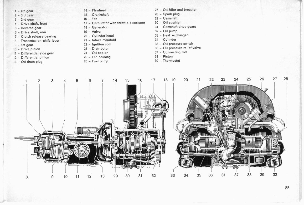 vw engine 1973 1300 diagram