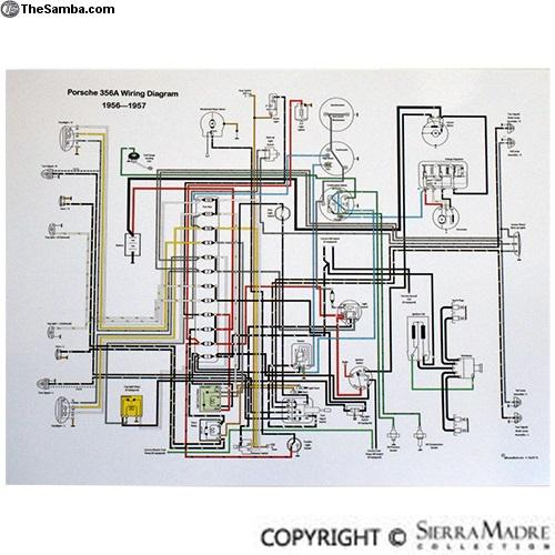 TheSamba  VW Classifieds - Full Color Wiring Diagram, 356(T1