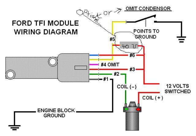 ford tfi distributor wiring diagram