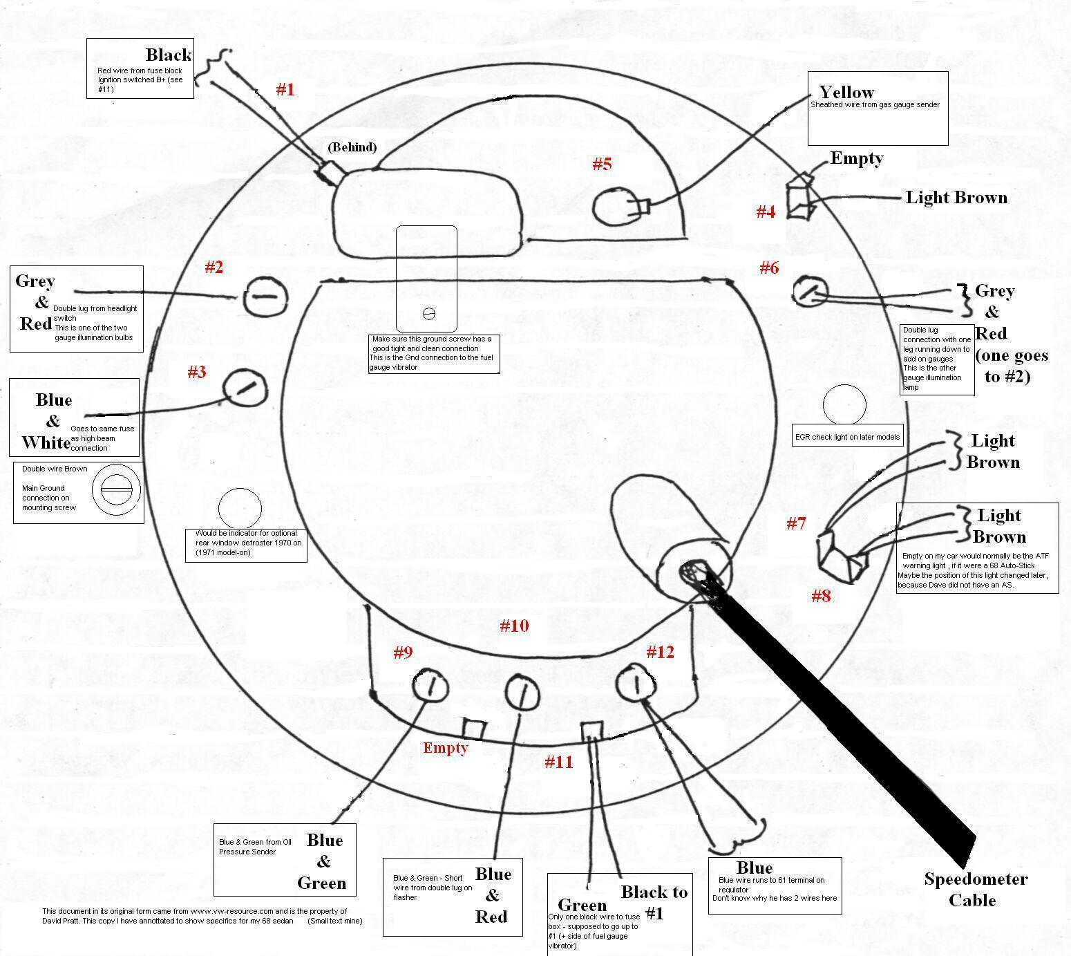 wiring diagram electric speedometer